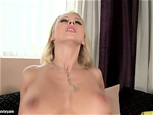 Mandy Dee likes dump of ample cum fluid right on her fun bags