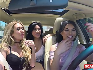 SCAM ANGELS - Cindy Starfall and Kat Dior torrid threesome
