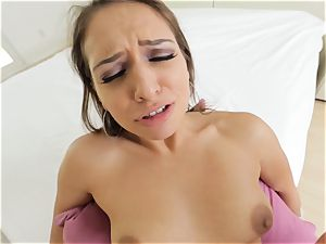 stunning Sara Luvv providing a warm pov blowage and ravage