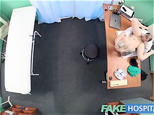 faux hospital Flirty inked minx requests quick orgy