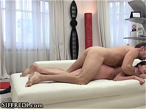 Francesca messy chats in Italian As Rocco romps backside