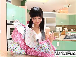 asian hottie Marica Hase deep throats and pulverizes