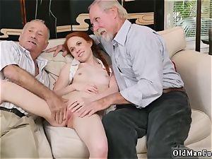 internal cumshot senior humungous grannie and two boy pummel young chick Online hook-up