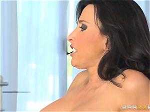 Lezley Zen watches Jessa Rhodes frantically penetrate her fellow