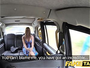 fake taxi Mum with inborn melons gets enormous brit boner