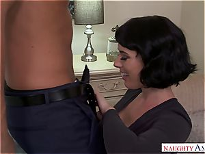 Olive Glass gets her furry muff split in half by her friend's hubby