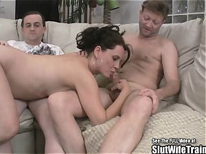 kinky cockslut wife 3some swallow drill soiree For spouse