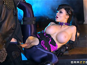 Aletta Ocean tucked with the monster pink cigar of Danny D