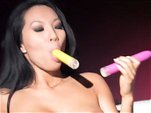 Asa Akira super hot two toy double penetration
