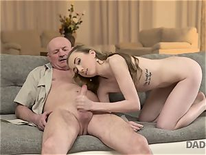 DADDY4K. fuckfest of dad and young girl ends with unexpected internal ejaculation
