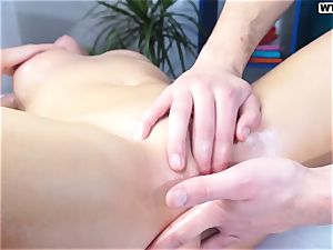 cute Russian woman Ally on a fuckfest rubdown session