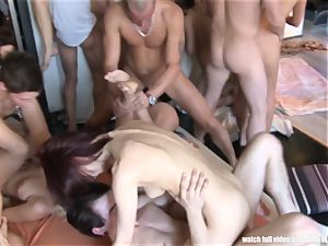 Adult Game Turns into hardcore gang fuckfest