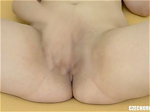 Czech obese doll jerking On Camera