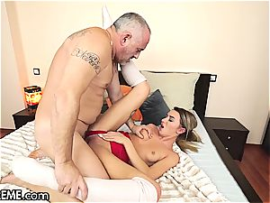 Ballerina Anna Thorne gets a dose of the grandpa cock