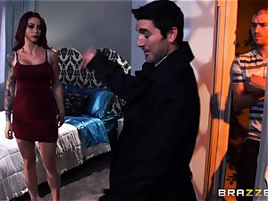tatted Monique Alexander gets her taut rear entrance creamed