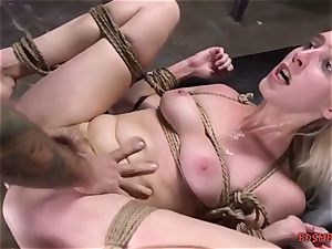 towheaded ultra-cutie gets pounded rigid in bondage