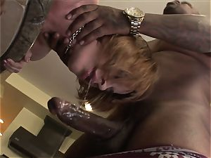 redhead With Braces big black cock ass-fuck