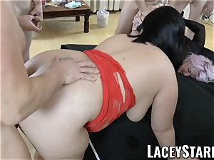 LACEYSTARR - Lacey Starr and her mates gang-fucked