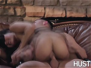 asian Kendra Spade blindfolded and hard-core facial