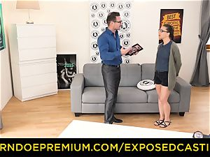 uncovered casting - super-cute nerdy stunner porked on audition