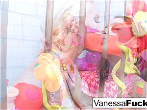 big-boobed Natasha ultra-cute drills Vanessa cell