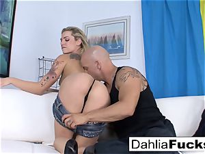 Getting penetrated by Derrick on the bed