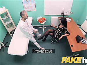 fake polyclinic enormous breasts grind stunner Ania Kinski