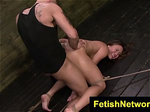 FetishNetwork Mena Li rides the sybian